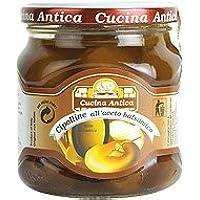 Cucina Antica - Pequeñas cebollas con vinagre balsámico - Caja con 6 tarros de 290 g cada uno