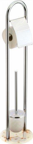 sanwood-9002900-support-combine-pour-brosse-wc-et-porte-rouleaux-shell-en-metal-chrome-et-pieds-en-p