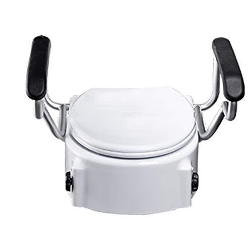 Amplificador de reposabrazos para Inodoro, Material de PE/apoyabrazos Blandos/Base de Carga Fuerte/Anti-aplastante, reposabrazos elevadores de Inodoro