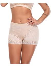a0b06003ce8 SLIMBELLE Femme Culotte Push Up Sculptante Monte Fesse Amincissante  Invisible Slips Dentelle Butt Lifter Panty Shapewear