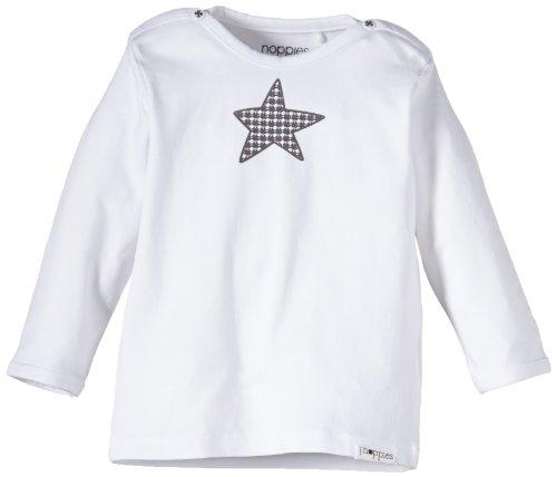 Noppies Unisex - Baby T-Shirt U Tee Ls Melanie, Einfarbig, Gr. Neugeborene (Herstellergröße: 74), Weiß