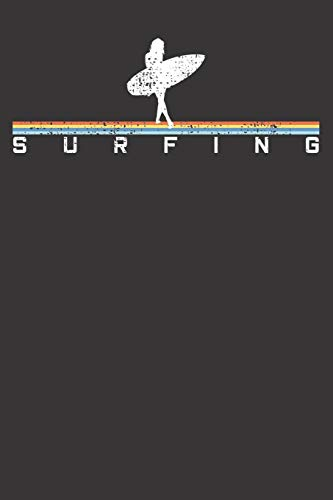 Notebook: Surfer Surfing Surf Surfboard Vintage Retro Style Dot Grid 6x9 120 Pages