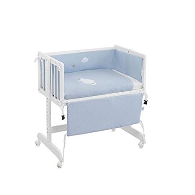 Funny Baby Codream - Minicuna, diseño Motitas, color azul