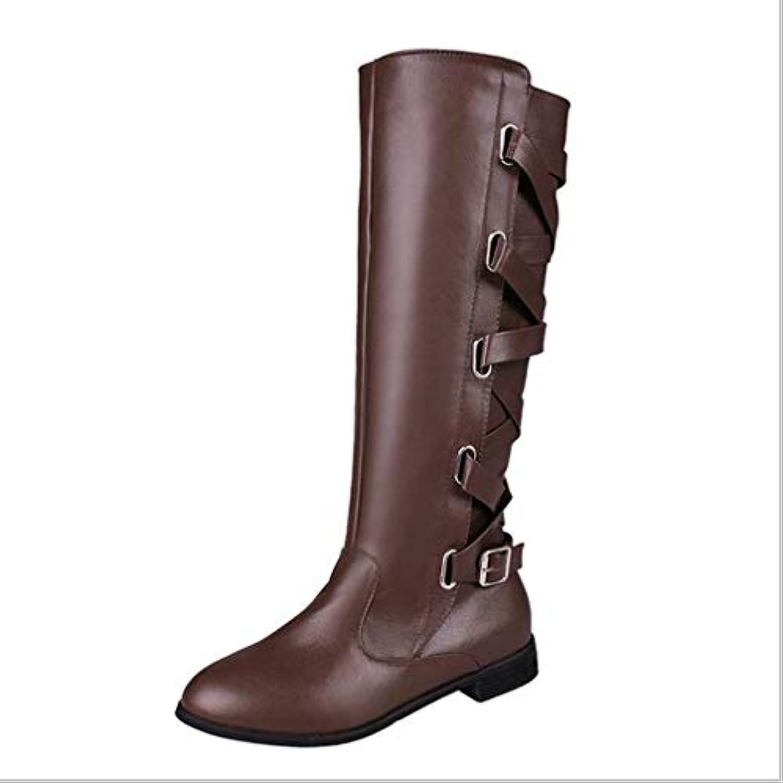 HY Stivali da Equitazione da Donna Artificiale PU Autunno Inverno Fibbia da Cintura Stivali Moda Donna Stivali... | Di Prima Qualità  | Uomo/Donne Scarpa