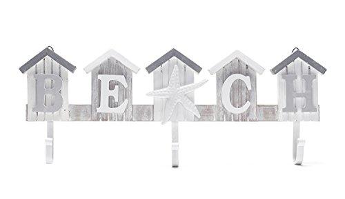 Wand-Garderobe Wandhalter Bad Beach - Strand Holz Wandhaken Haken Deko Strand Meer Shabby Landhaus Handtuchhalter