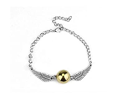 Harry Potter: Golden Snitch Bracelet with Silver Wings