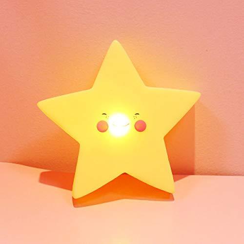 Creative Star Moonlight Cute Bedroom Decorative Light Battery Soft Girl Bedside Table Creative Lamp Energy Saving Night Light D Button Type