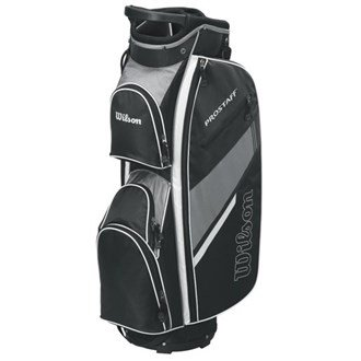 Wilson 2015 Prostaff Cart Bag Mens Golf Trolley Bag 14-Way Divider Black/Grey