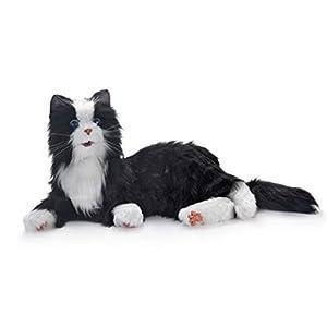 NEUE Freude für alle Robotic Reclining Black & White Smoking Cat – gefüllte Tier-Therapie für Menschen mit Gedächtnisverlust von Aging und Pflegekräfte