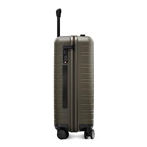 HORIZN STUDIOS H5 Handgepäck | Kabinen Trolley Koffer | Hartschale 55 cm, 35 L, mit 4 Rollen und TSA Schloss, Olivgrün (Dark Olive) - 8