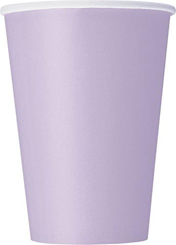 Unique Party- Paquete de 10 vasos de papel, Color lavanda, 355 ml (31350)