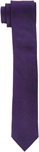 Calvin Klein Slim 6.4 Cm, Corbata para Hombre, Multicolor (Morado/Burgundy 605), Talla única