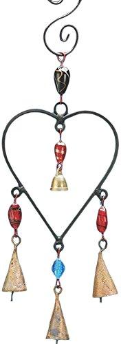 stealstreet 15,2cm Dekoratives Eisen Herz Windspiel mit 4Glocken