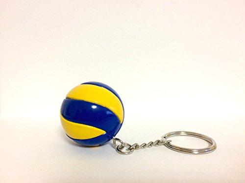 bkstuff Schlüsselanhänger blau gelb Volleyball Ball Sport Gadgets (1 Stück)