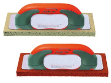 Llana esponja Kapriol con mango Progrip-cm. 14x 21-Goma Roja o goma gris
