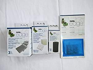 fluval edge zubehoer Fluval Edge Ersatzteil für Filtermaterial - Biomax, Schaumstoff, Kohlenstoff, 3 Stück