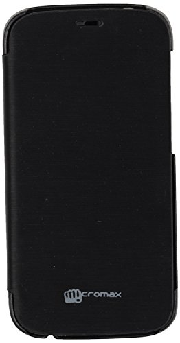 iCandy™ Synthetic Leather Flip Cover For Micromax Canvas Turbo A250 - BLACK  available at amazon for Rs.170