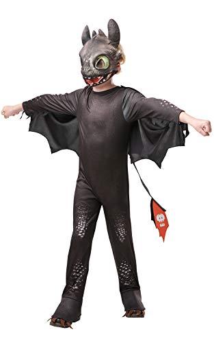Rubies 3641470 Kostüm, Unisex-Kinder, schwarz (Dragon Kostüm Kinder)