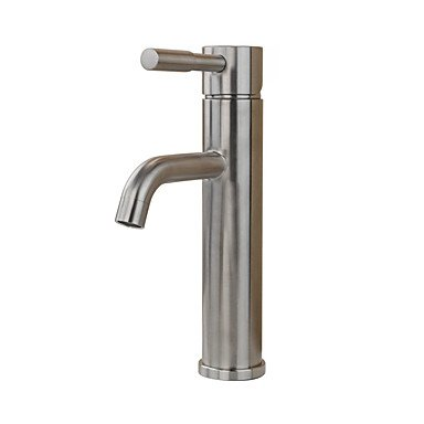 Contemporary Country Modern Standard Spout Vessel Rain Shower Widespread with Ceramic Valve Single Handle One Hole forStainless Steel,