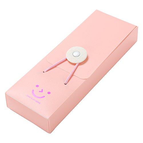 TRIXES Astuccio rosa in plastica per penne e matite, custodia per cancelleria.