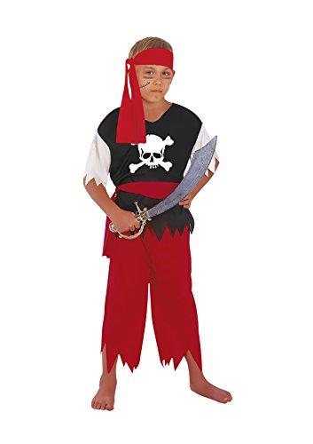 Fiori Paolo- Pirata Costume Bambino, Rosso, L (L (7-9 anni), 61032.L