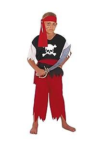 FIORI PAOLO-Disfraz pirata niño M (5-7 anni) rojo