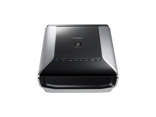 Canon CanoScan 9000F Mark II Film Negative Scanner (35 mm Film, 120 Format Film, 9,600 x 9,600 dpi, USB 2.0) schwarz