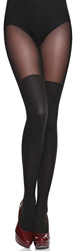 Preisvergleich Produktbild Gabriella Strumpfhose mit Overknees Muster Tights, 40 DEN, 1er Pack (1 x 1 Stück)