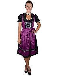 Set Lila Emmi Midi Dirndl Trachtenkleid Mididirndl Oktoberfest Kleid 3 tlg