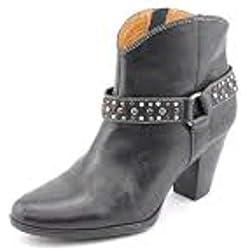 Sofft Frauen Noreen Pumps rund Leder Fashion Stiefel Schwarz Groesse 7 US /38 EU