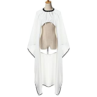 Attractive beauty 170x150CM Waterproof Salon Hair Cut Hairdressing Barbers Cape Gown For Phone Transparent Viewing Window (White)
