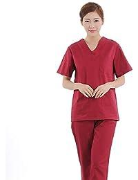 ZHUXIANSHENG Uniforme Médico De La Manga Corta De La Clínica Dental del Uniforme del Hospital De