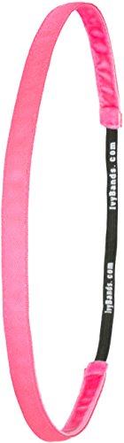 IVYBANDS Anti-Rutsch Haarband Neon Super Thin, Pink, One Size