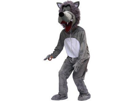 Wolf Costume Grey (Kostüme Märchen Wald Erwachsenen)