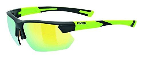 Uvex Unisex Erwachsene Sportstyle 221 Sportbrille, Black Mat yellow, One Size