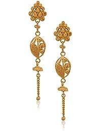 Senco Gold 22k Yellow Gold Drop Earrings