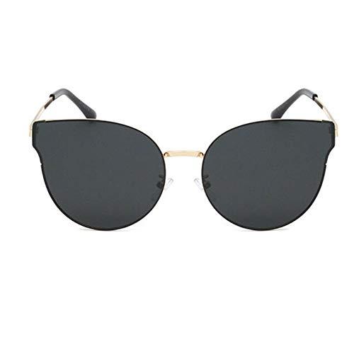 Big Box Sonnenbrillen Frauen, Retro Cat Eyes europäischen und amerikanischen Sonnenbrillen für Outdoor-Reisen Angeln Golf Fahren,A
