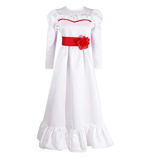 NSPSTT Damen Mädchen Annabelle Kleid Cosplay Kostüm für Halloween Partei