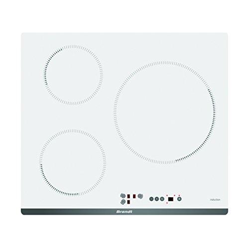 Brandt BPI6315W Intégré Induction Blanc plaque - plaques (Intégré, Induction, verre-céramique, Blanc,...