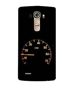 PrintVisa Designer Back Case Cover for LG G4 :: LG G4 Dual LTE :: LG G4 H818P H818N :: LG G4 H815 H815TR H815T H815P H812 H810 H811 LS991 VS986 US991 (Car Speedometer Design In Black)
