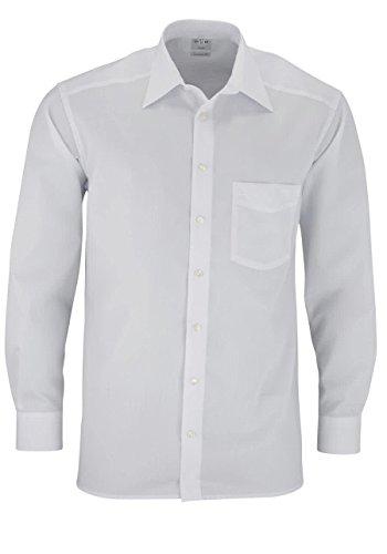 """OLYMP Olymp Herren Hemd """"Comfort Fit"""" Langarm, Weiß (01 Weiß), Gr. 38"""
