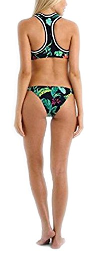 Arrowhunt Damen Retro Sport BH Bikini Set Grün