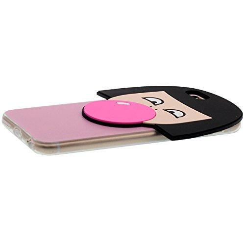 Coque Protection Transparent Case pour Apple iPhone 6 / 6S 4.7 inch, Dessin original 3D Mignon Fille Souffler Ballons Forme Série Housse de Protection TPU Poids Léger rose