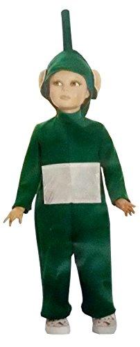 Costume da teletubbies verde dipsy cartoni animati - tg.4° - 4-5 anni. travestimento di carnevale e halloween bambina (controllare le misure in centimetri della taglia) - hllw