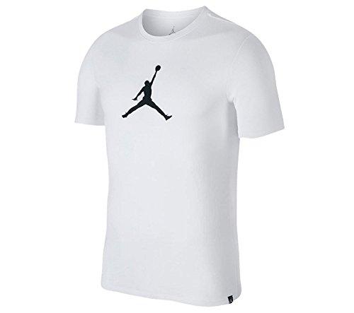 Jordan-t-shirt Weiße (Nike Herren Jordan Dri-Fit Jmtc 23/7 Jump T-Shirt, Weiß / Schwarz, 2X-Large)