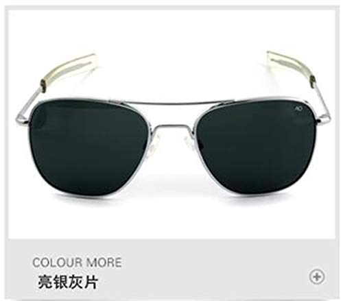Sonnenbrillen Aviation Sunglasses Men Women NEW Vintage Brand Designer American Army Military Optical AO Sun Glasses Oculos De Sol Masculino c5sliver-gray