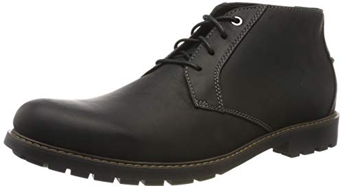 Clarks Men's Curington Over Klassische Stiefel, Schwarz (Black Leather), 42.5 EU
