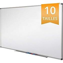 Tableau Blanc Office Marshal® | Tableau Magnétique Élu Meilleur Rapport Qualité/Prix | Tableau Effaçable Aimanté | Série PRO, 120x180cm