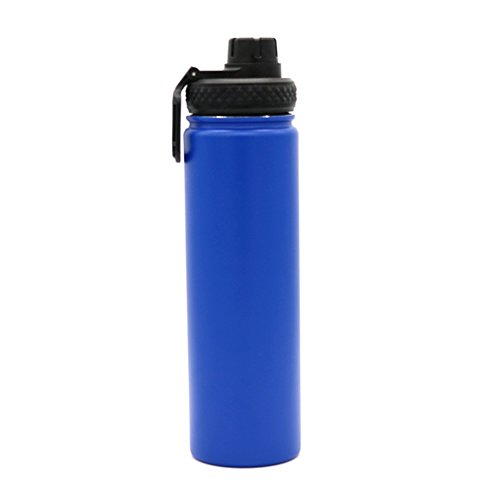 Yitye doppio in acciaio inox sport bottiglia d' acqua per bere tazza termica da viaggio escursionismo & design moderno, 700ml, dark blue