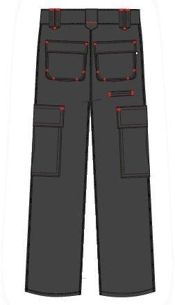 Lee Cooper Men's Cargo Trouser – schwarz -30W/29S - 3